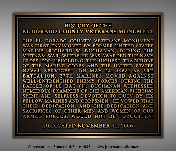 Buchanan, Rich - History Plaque
