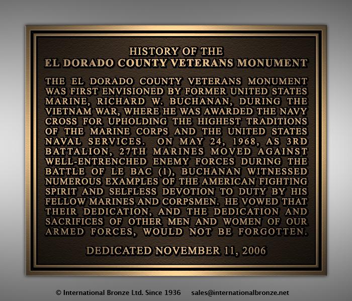 Buchanan, Rich - History Plaque